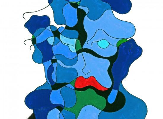 Le penseur bleue